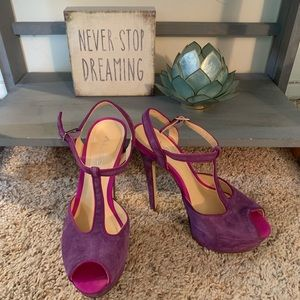 Bright Purple/Magenta/Hot Pink ALDO Platform Heels